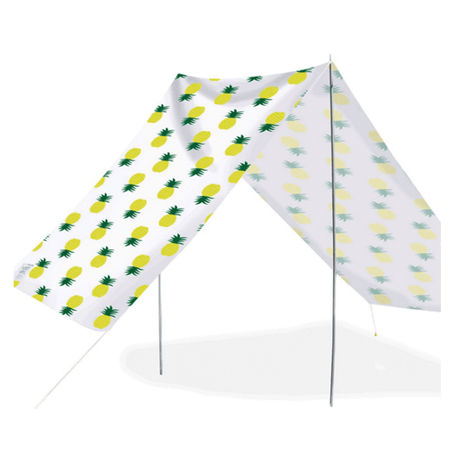 Quick-Assembly Summer Beach Tent [148 x 370cm]  - Pineapple Design | FREE DELIVERY