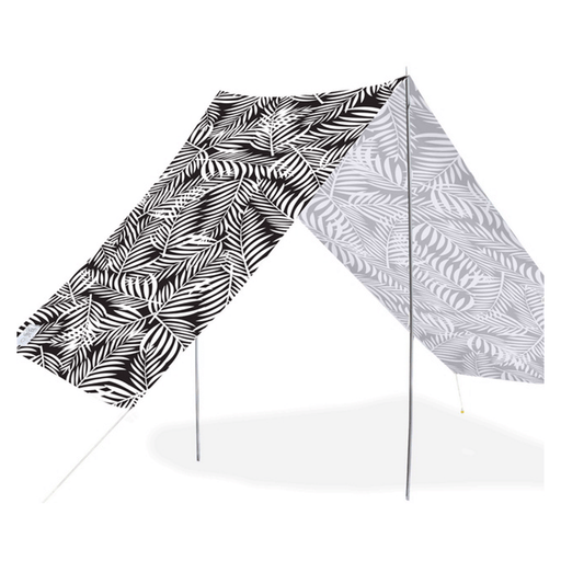 Quick-Assembly Summer Beach Tent [148 x 370cm]  - Fern Design | FREE DELIVERY