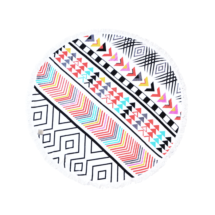 Round Beach Towel 150cm Printed - Cherokee Design | FREE DELIVERY