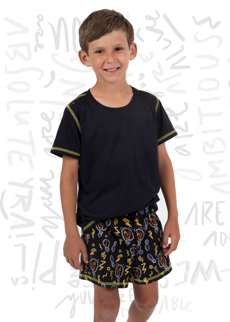 PJ BRIGHT Manga Corta con Boxer / BRIGHT PJ Short sleeve and Boxer.