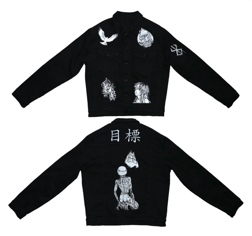 Berserk Denim Jacket : Berserk Griffith Anime Clothing