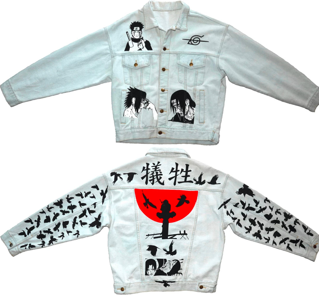 Itachi Denim Jacket : Itachi Naruto Anime Clothing