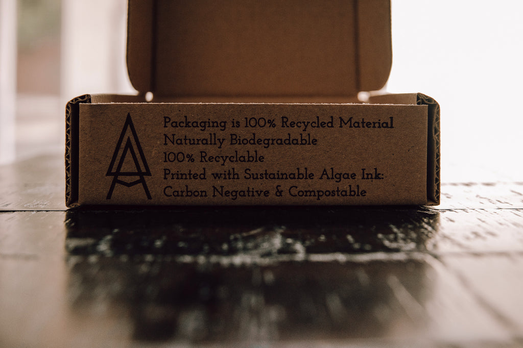 Sustainable Packaging Recycled, Biodegradable, Algae Ink, Carbon Negative and Compostable