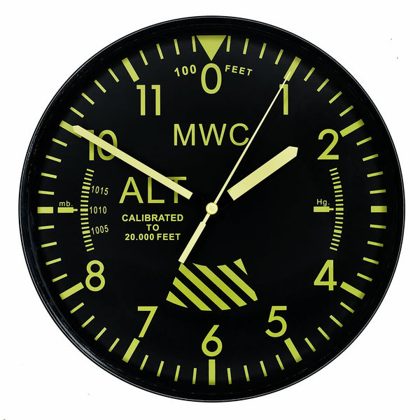 MWC Limited Edition Altimeter Wall Clock with High Visibility Dial