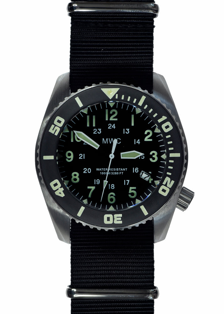 "MWC ""Depthmaster"" 100atm / 3,280ft / 1000m Water Resistant Military Divers Watch in Stainless Steel Case with Helium Valve (Quartz) - Ex Display Watch from Shot Show in Las Vegas"