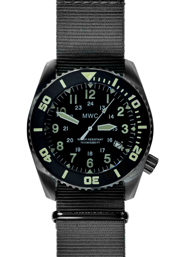 "MWC ""Depthmaster"" 100atm / 3,280ft / 1000m Water Resistant Military Divers Watch in Stainless Steel Case with Helium Valve (Quartz) - Running Fine but Might Have a Slight Fault Although Noting Apparent"