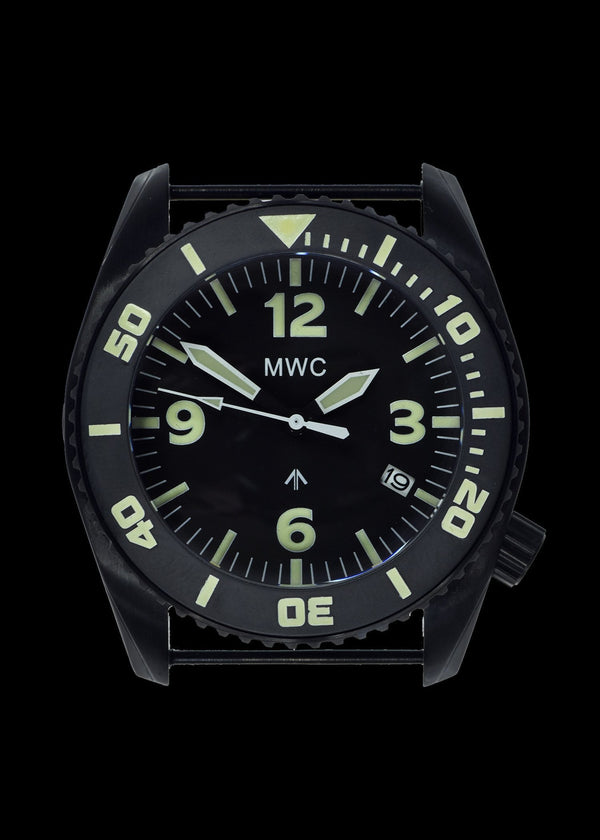 "MWC ""Depthmaster"" 100atm / 3,280ft / 1000m Water Resistant Military Divers Watch in PVD Stainless Steel Case with Helium Valve (Quartz) Ex Display Watch Needs Minor Attention"