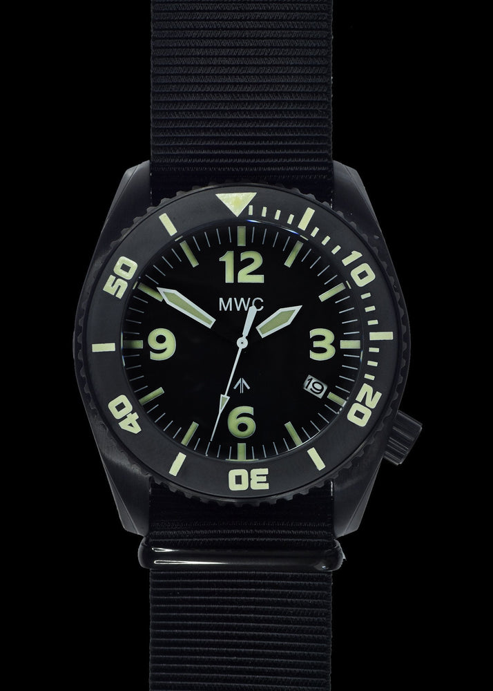 "MWC ""Depthmaster"" 100atm / 3,280ft / 1000m Water Resistant Military Divers Watch in PVD Stainless Steel Case with Helium Valve (Quartz) Ex Display Watch"