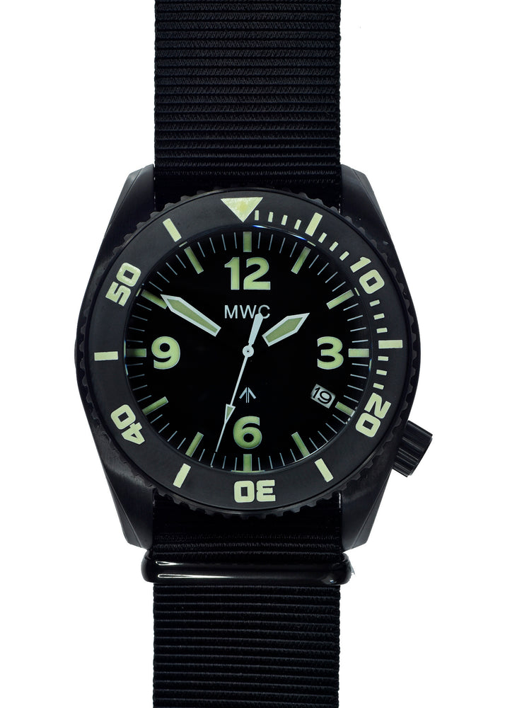 "MWC ""Depthmaster"" 100atm / 3,280ft / 1000m Water Resistant Military Divers Watch in PVD Stainless Steel Case with Helium Valve (Automatic) Ex Display Watch"