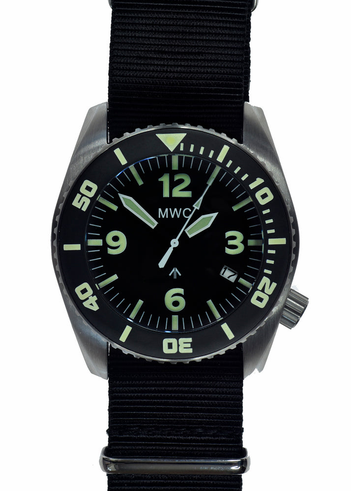 "MWC ""Depthmaster"" 100atm / 3,280ft / 1000m Water Resistant Military Divers Watch in Stainless Steel Case with Helium Valve (Quartz) Ex Display Watch from the IWA Gun Show in Germany"