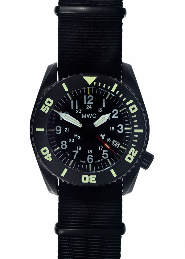 "MWC ""Depthmaster"" 100atm / 3,280ft / 1000m Water Resistant Military Divers Watch in PVD Stainless Steel Case with GTLS and Helium Valve (Automatic) - Needs Attention"