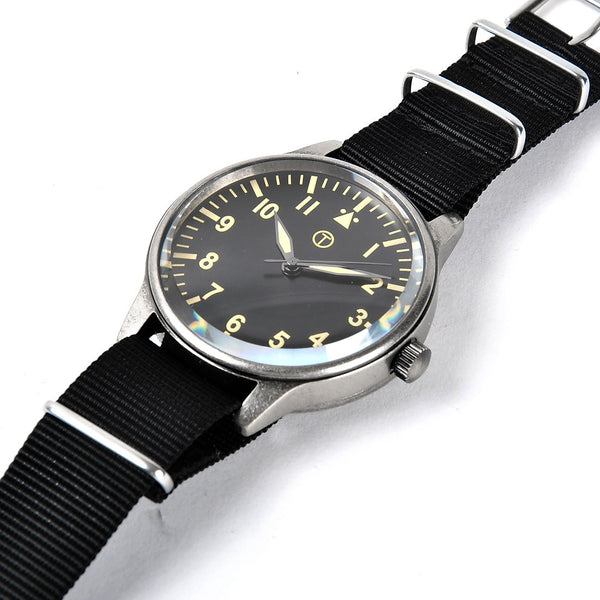 1960s Pattern Military Watch with Retro Pattern Casing and dial on Nylon Webbing Strap