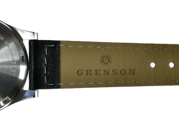 Grenson 24 Jewel Automatic Pilots Watch with 100m Water Resistant on Calf Leather Strap