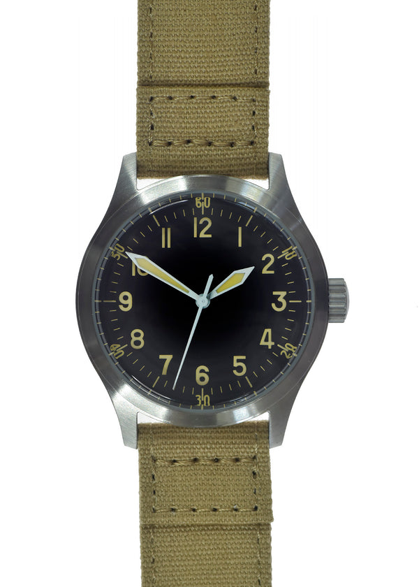 A-11 1940s WWII Pattern Military Watch (Quartz) with 100m Water Resistance - Not Running