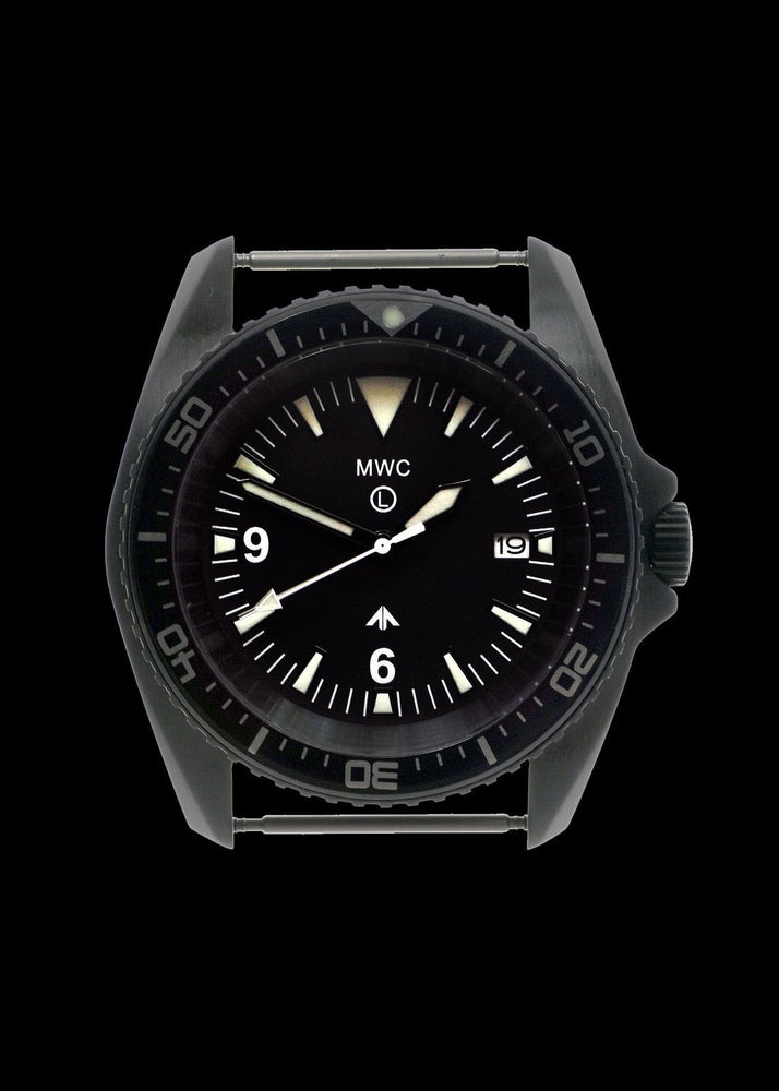 MWC Military Divers Watch in PVD Steel Case (Quartz) - Needs Attention to the Crown