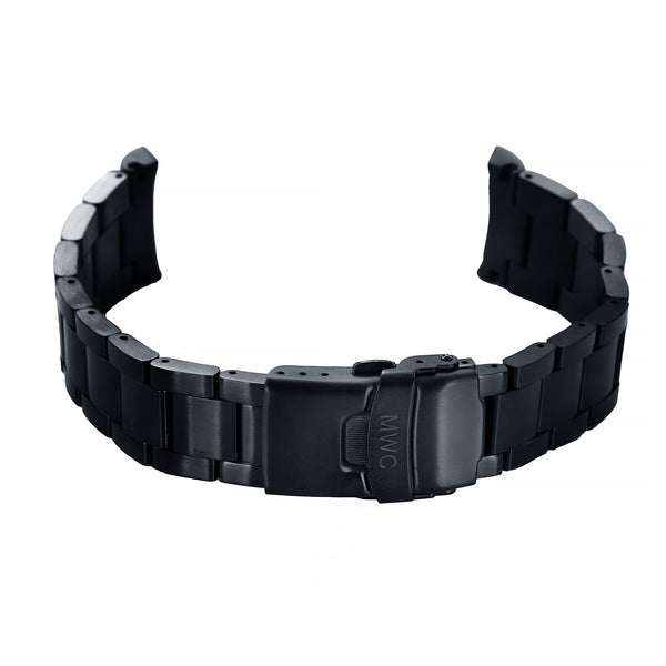 MWC Black PVD Steel 20mm Bracelet to fit 300m Divers Models - Surplus Stock to Clear