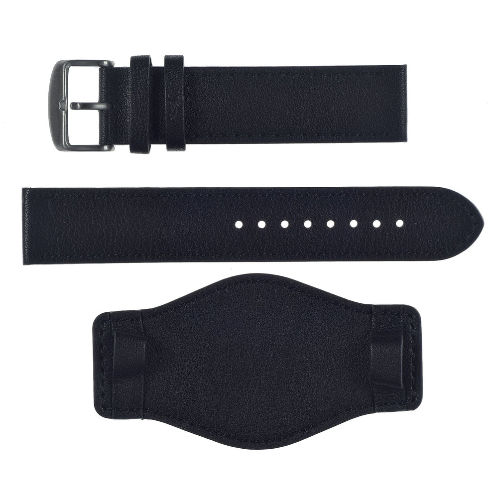 "18mmmm Black Leather German ""Luftwaffe"" Bund Military Watch Strap"