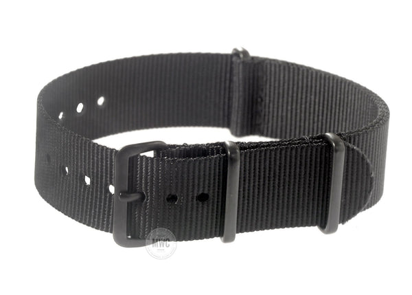 24mm Black PVD NATO Military Watch Strap