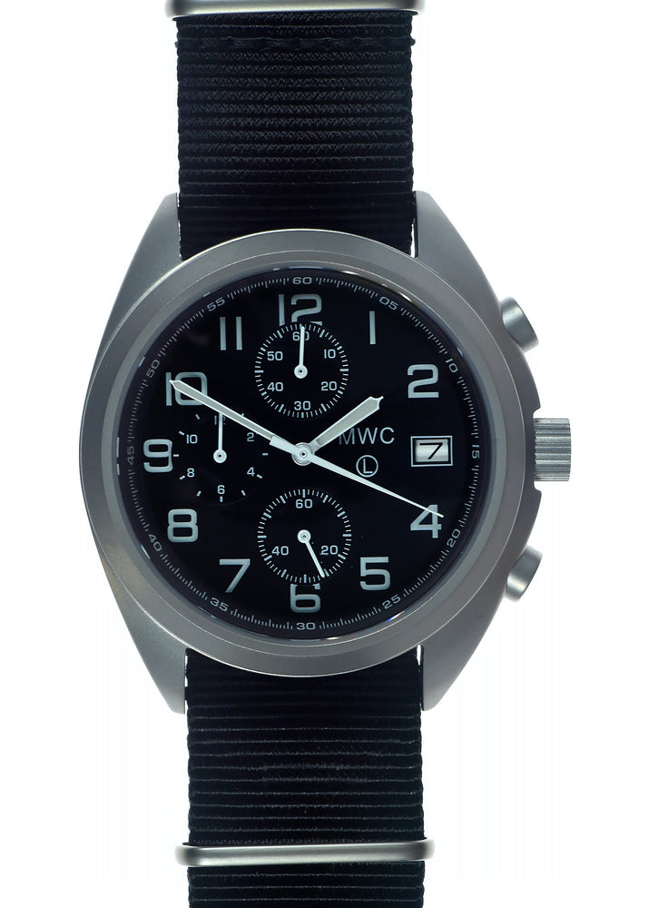 MWC NATO Pattern Stainless Steel Hybrid Military Pilots Chronograph with Sapphire Crystal