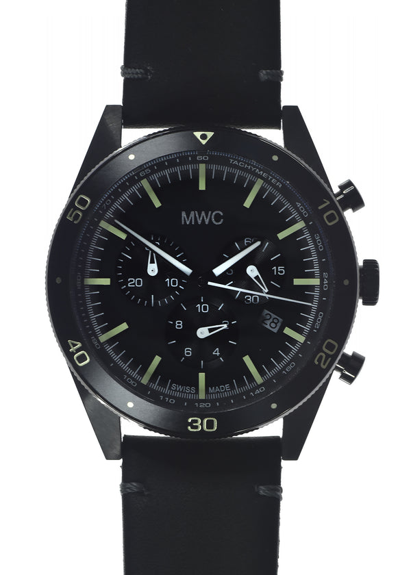2020 Limited Edition MWC 100m Water Resistant Swiss Airline Pilots Chronograph (Covert PVD Finish)