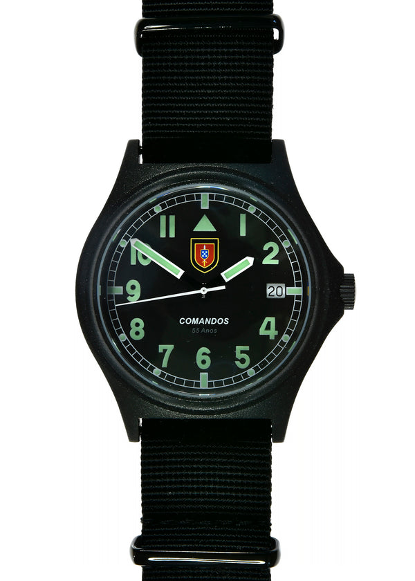 Portuguese Commandos 55th Anniversary Watch 300m / 1000ft Water resistant in PVD Steel Case with Sapphire Crystal (Dated) Brand New but Not Running Maybe Just a Battery Failure