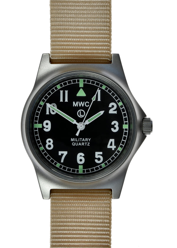 MWC G10 LM Non Date Stainless Steel Military Watch (Desert Strap)