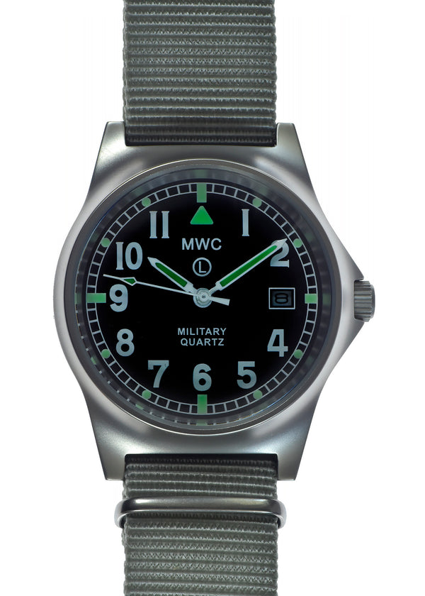 MWC G10 LM Stainless Steel Military Watch (Grey Strap)