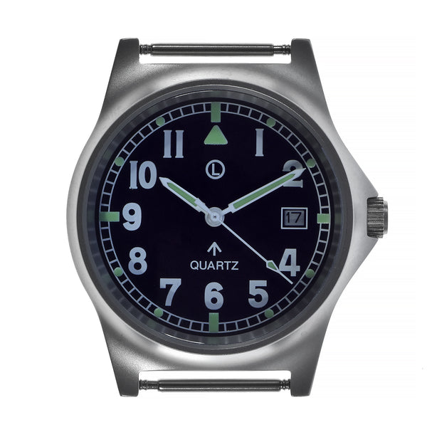 MWC G10 LM Stainless Steel Military Watch on a Grey NATO Strap (Sterile Dial)