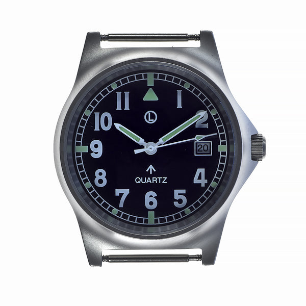MWC G10 LM Stainless Steel Military Watch on a Grey NATO Strap (Sterile Dial and Plain Caseback For Personalisation)