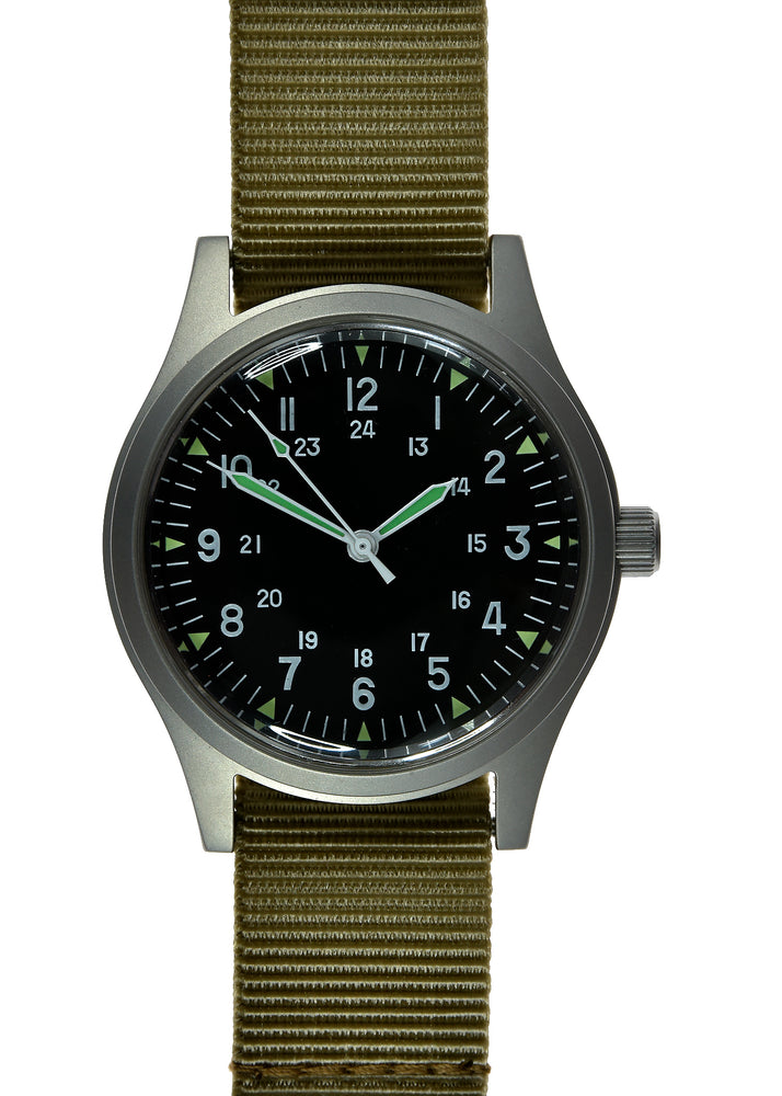 GG-W-113 US 1960s Pattern Military Watch (handwound version)