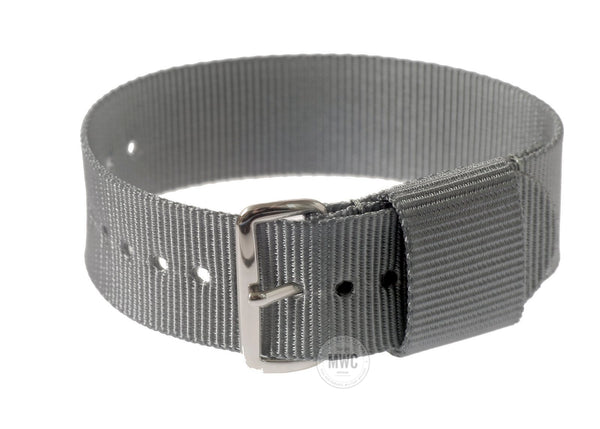 18mm US Grey Military Watch Strap