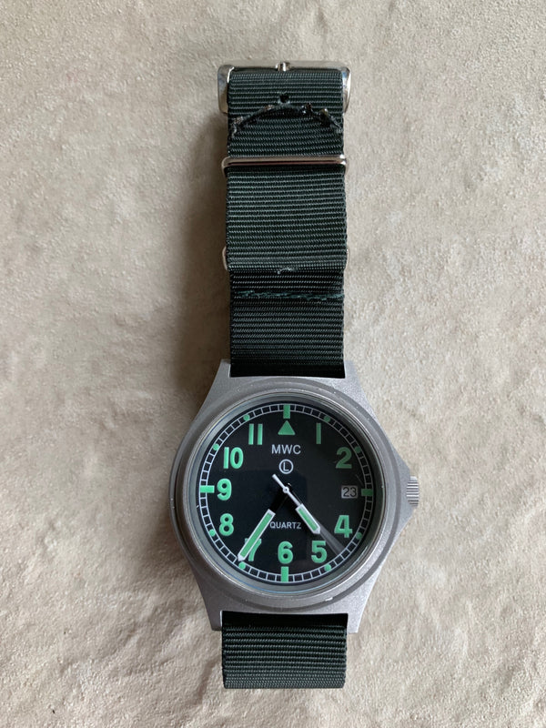 MWC G10 100m Water resistant Military Watch in Stainless Steel Case (Running Fine but Minute Hand Loose)