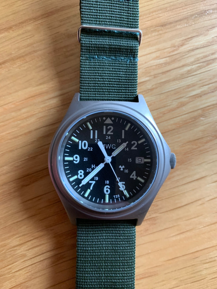 MWC Titanium General Service Watch with 300m Water Resistance, 10 Year Battery Life, GTLS, Sapphire Crystal and 12/24 Dial Format - Needs a Check Over but Running
