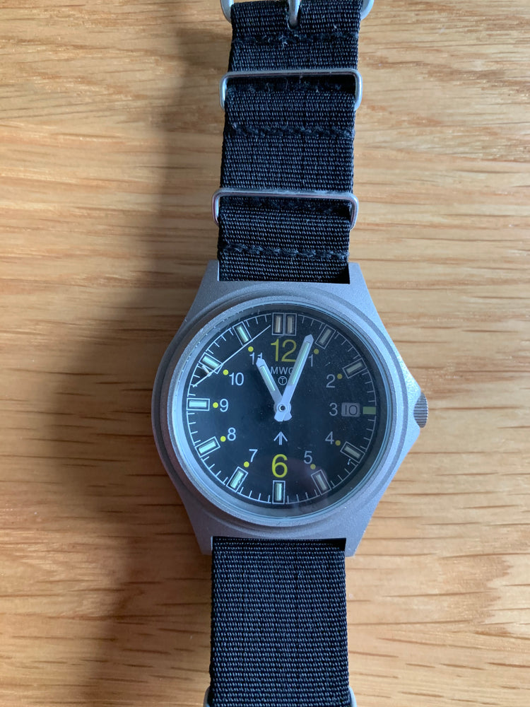 G10SL MKV 100m Water Resistant Military Watch with GTLS Tritium Light Sources - Look Almost New Running but Hand Needs Resetting