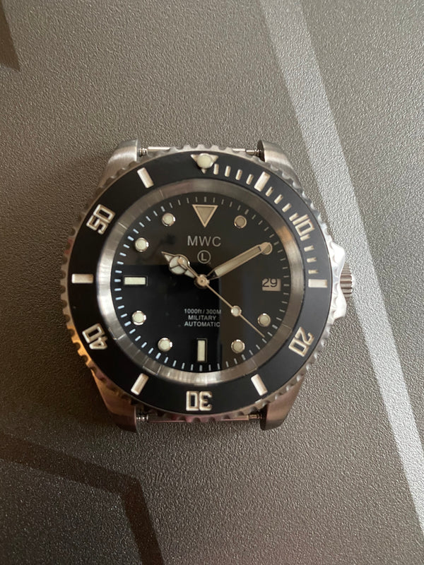 MWC 24 Jewel 300m Automatic Military Divers Watch with Sapphire Crystal - As New But Needs Regulating