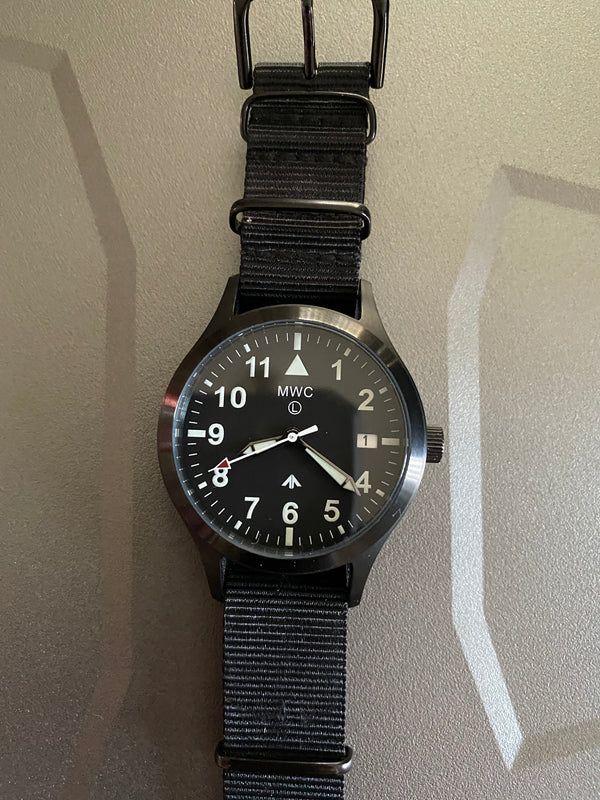 MWC MKIII (100m) 1950s Pattern Automatic Ltd Edition Military Watch in Black PVD (No Fault Apparent)