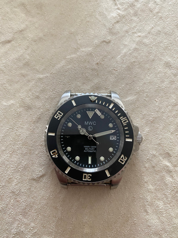 MWC 24 Jewel 300m Automatic Military Divers Watch - Marker at 9 Needs Resetting