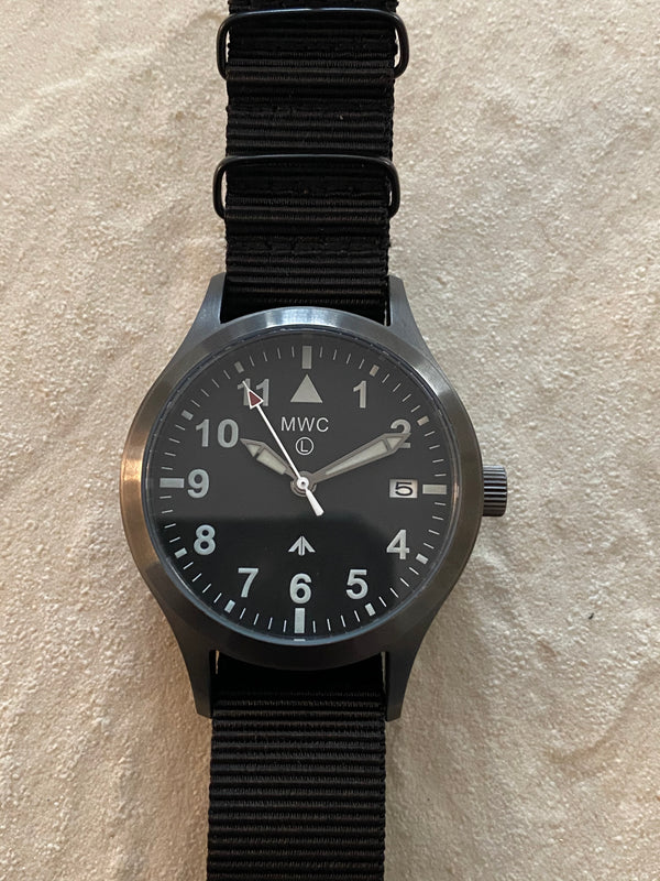 MWC Mk III Gunmetal 1950's Pattern 100m Water Resistant Automatic Military Watch - No Fault Apparent Looks New and Runs Fine