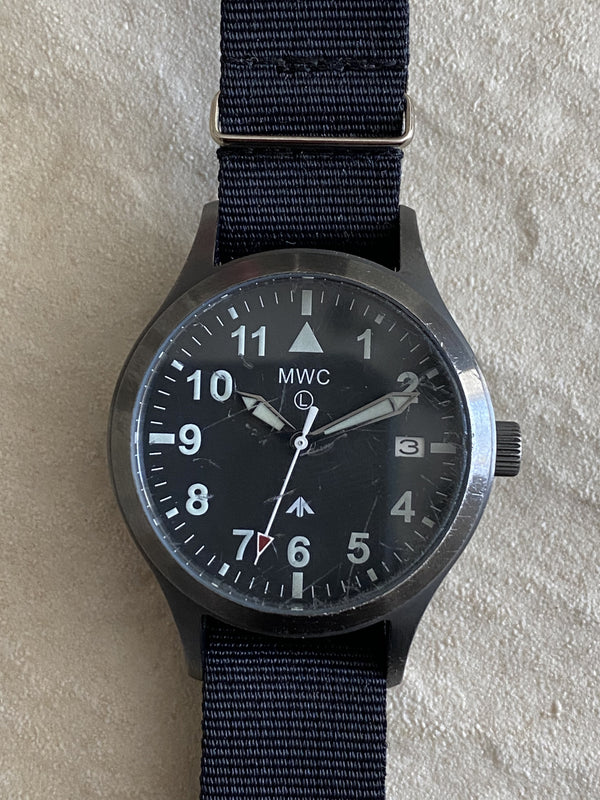 MWC Mk III Gunmetal 1950's Pattern 100m Water Resistant Automatic Military Watch - No Fault Apparent and Runs