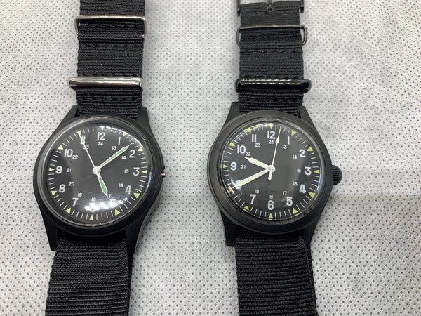 Pair of GG-W-113 PVD US 1960s Pattern PVD Military Watch (1 x Handwound and 1 x Automatic ) - Need Attention
