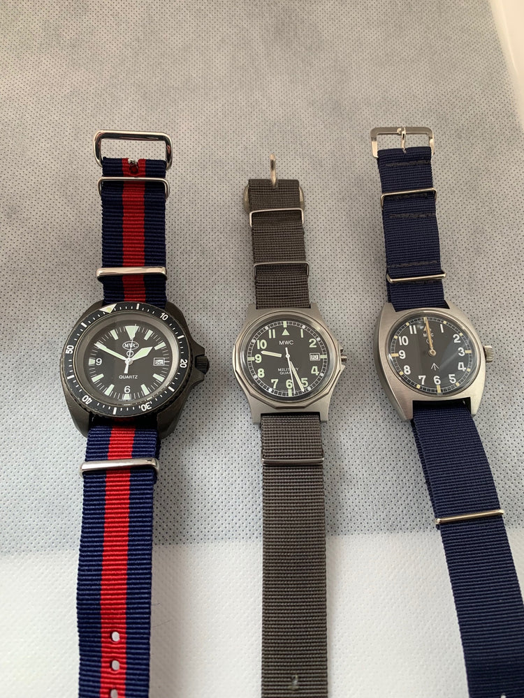 Bargain Batch of 3 x MWC 1980s/90s Watches for Repair (1 x G10 / 1 x W10 / 1 x PVD Diver)