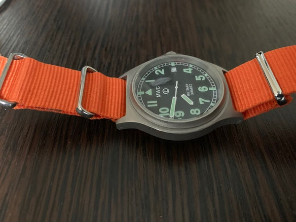 MWC G10 100m Water resistant Military Watch in Stainless Steel Case (May Need Attention)