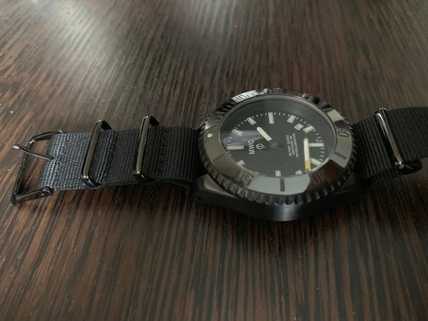 MWC 300m PVD Military Quartz Divers Watch with Tritium GTLS - Needs Attention to Hands