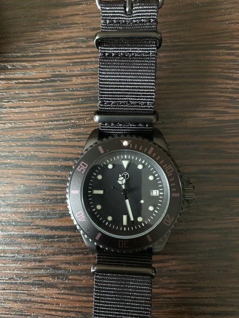 MWC Non Reflective PVD 300m Automatic Military Divers Watch - Running and Looks New