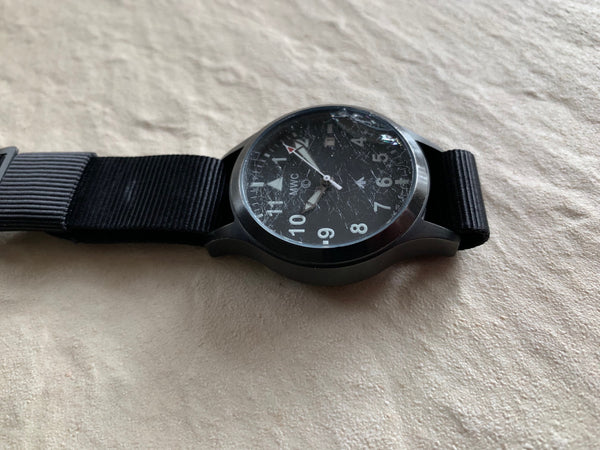 MWC MKIII (100m) 1950s Pattern Automatic Ltd Edition Military Watch in black PVD (Needs New Crystal But Running)