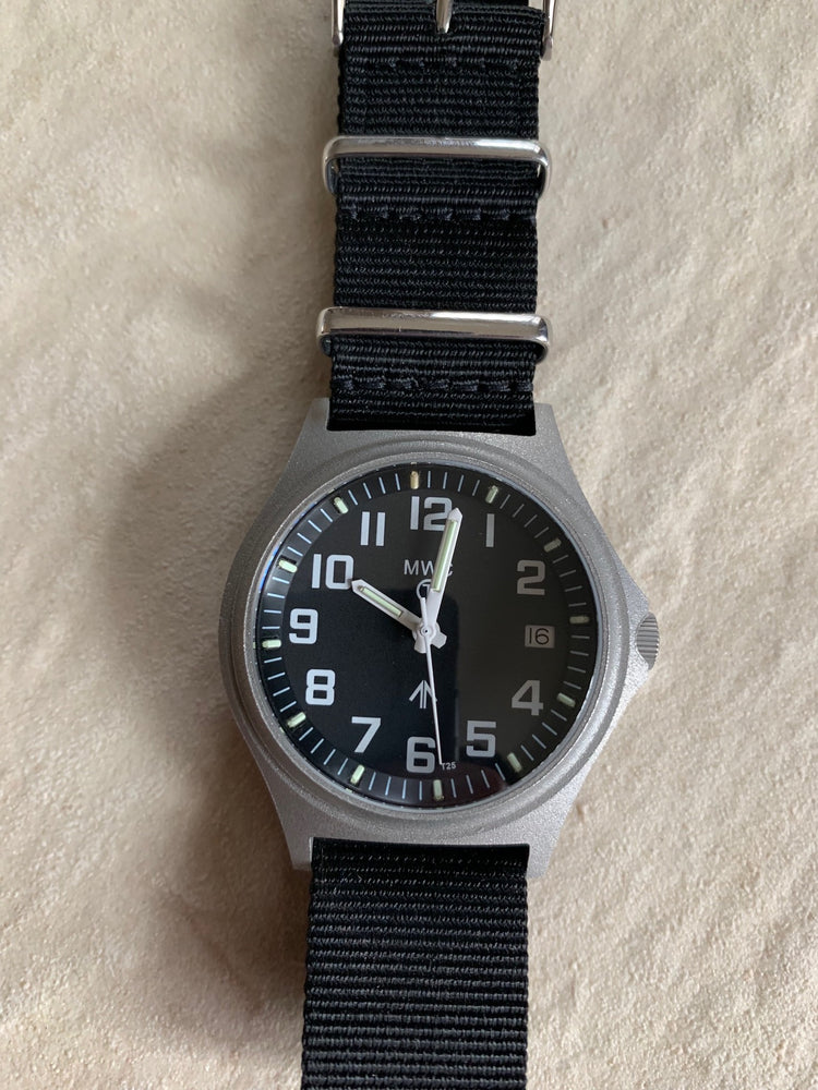 G10SL MKVI 300m Water Resistant Military Watch with GTLS Tritium Light Sources and Sapphire Crystal - Needs a Minor Dial Adjustment and Two GTLS Tubes but Runs Fine