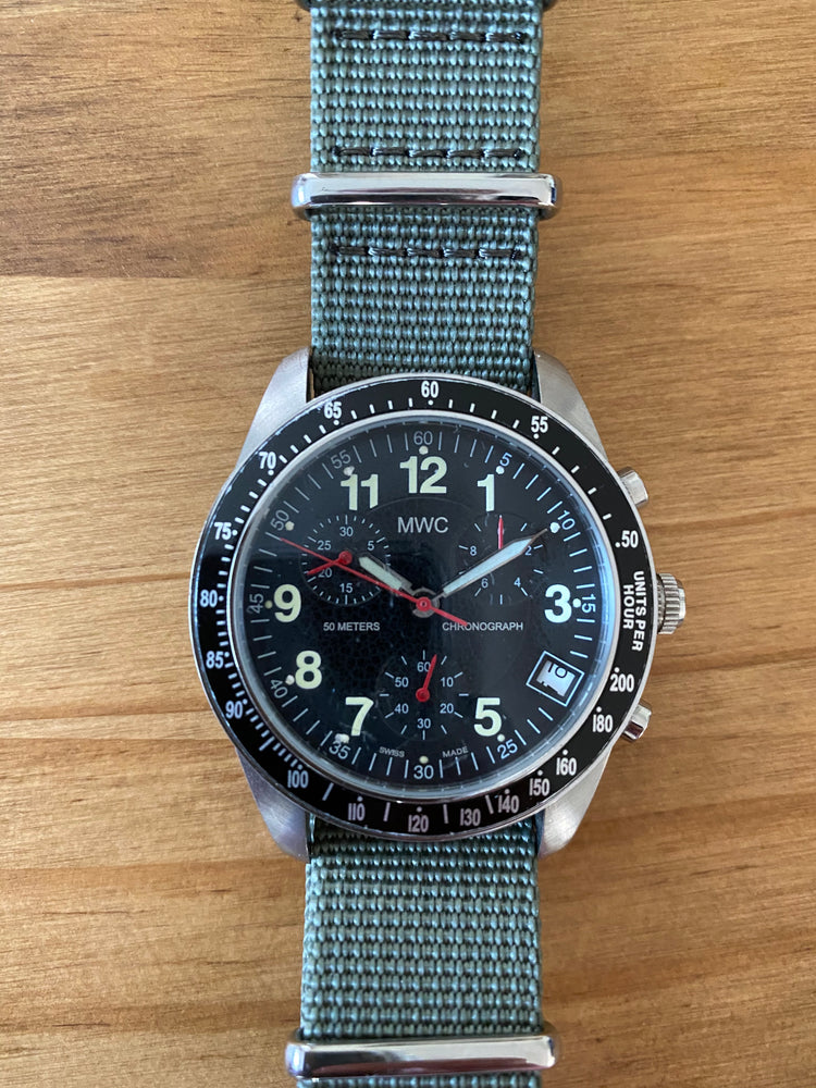Limited Edition Pilots Chronograph made for USAF Pilots at Aviano, AFB in Italy (Needs Attention)