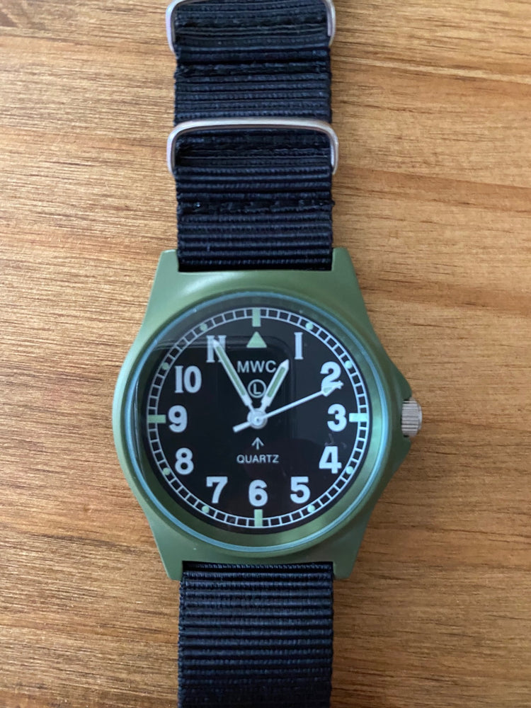 MWC Olive G10A Military Watch - Brand New Not Running May Well Be Just a Battery Needed