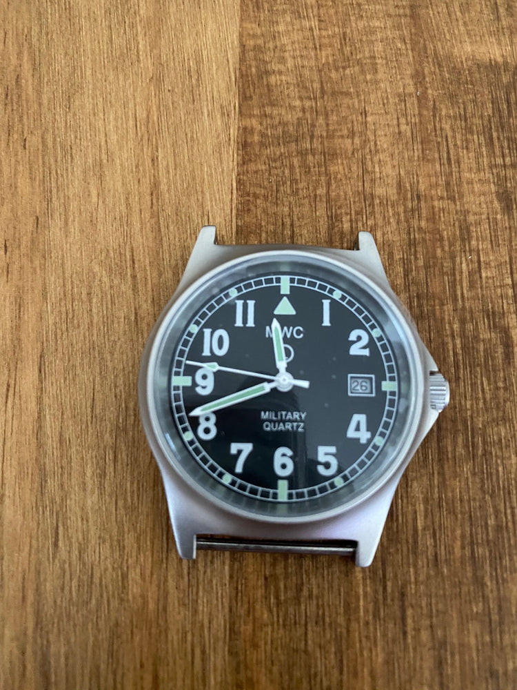 MWC G10 LM Stainless Steel Military Watch - Not Running (likely just a battery) and Needs a Pin