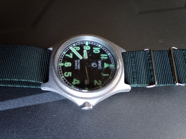 MWC G10BH 50m (165ft) Water Resistant NATO Pattern Military Watch - Not Running and Hand Off
